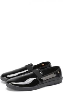 Текстильные слиперы с лаковым покрытием Rivieras Leisure Shoes