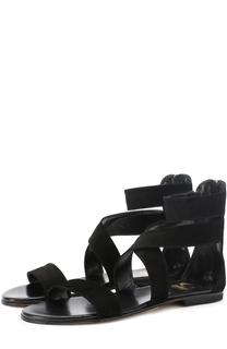 Замшевые сандалии на молнии Gallucci