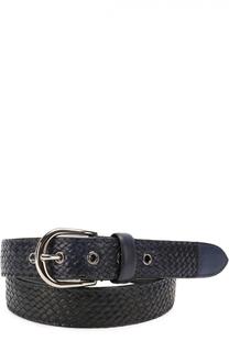 Плетеный кожаный ремень с металлической пряжкой Barrett