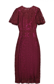 Кружевное приталенное платье с коротким рукавом Dolce & Gabbana