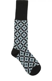 Хлопковые носки с геометрическим принтом Marni