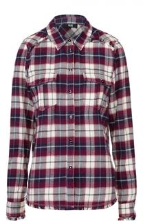 Блуза прямого кроя в клетку с накладными карманами Paige