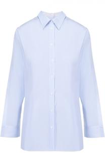 Хлопковая блуза прямого кроя с необработанным краем Mm6