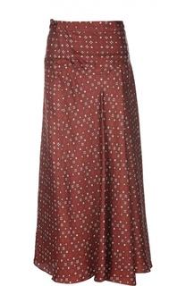 Шелковая юбка-макси с контрастным принтом Isabel Marant