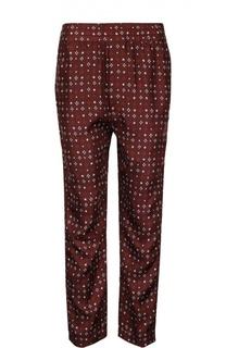 Прямые брюки с эластичным поясом и контрастным принтом Isabel Marant
