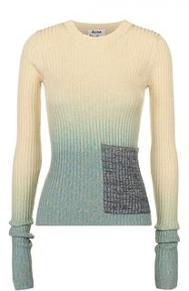 Облегающий пуловер фактурной вязки с круглым вырезом Acne Studios