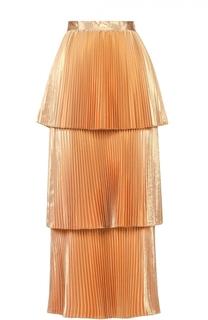 Многоярусная плиссированная юбка-макси Stella McCartney