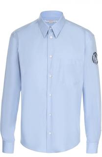 Хлопковая рубашка с нашивкой на рукаве Stella McCartney