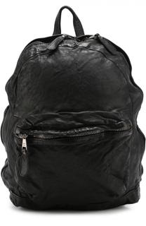 Кожаный рюкзак с эффектом крэш Giorgio Brato