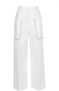 Укороченные широкие брюки с накладными карманами Aquilano Rimondi