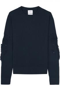 Кашемировый пуловер свободного кроя с фактурной отделкой Barrie