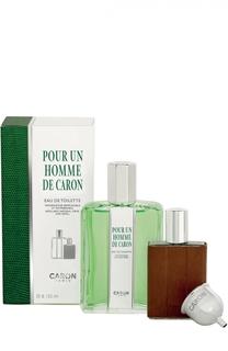 Набор Pour Un Homme: Туалетная вода + Спрей флакон Caron