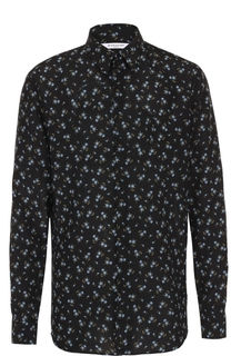 Шелковая рубашка с цветочным узором Givenchy