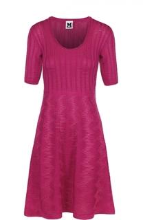 Приталенное платье-миди с укороченным рукавом M Missoni