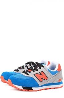 Комбинированные кроссовки 574 на шнуровке New Balance