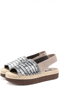 Замшевые сандалии с бахромой на платформе Paloma Barcelo