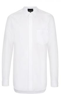 Хлопковая рубашка асимметричного кроя 3.1 Phillip Lim