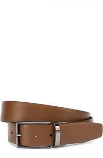 Кожаный ремень с металлической пряжкой Ermenegildo Zegna