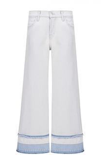 Укороченные расклешенные джинсы с необработанным краем J Brand