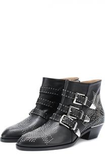 Кожаные ботинки Susanna с заклепками Chloé