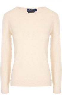Кашемировый пуловер прямого кроя с круглым вырезом Polo Ralph Lauren