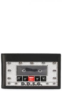 Кожаное портмоне с декоративной отделкой и отделениями для кредитных карт Dolce & Gabbana