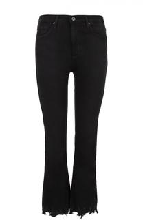 Укороченные джинсы прямого кроя с необработанным краем Ag