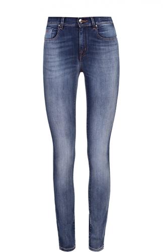 Укороченные джинсы-скинни с потертостями Jacob Cohen