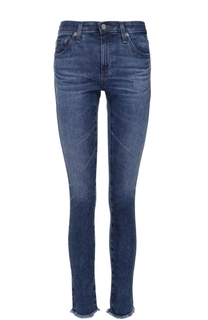 Укороченные джинсы-скинни с необработанным краем Ag