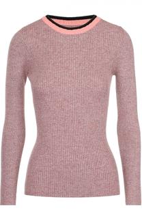 Облегающий пуловер с круглым вырезом и контрастной отделкой Apiece Apart