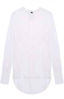 Шелковая полупрозрачная блуза с удлиненной спинкой Ilaria Nistri