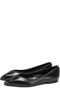 Кожаные балетки Zip с декором Tom Ford