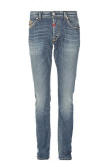 Зауженные джинсы с потертостями Sartoria Tramarossa