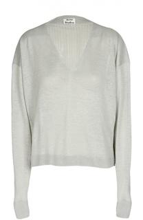 Пуловер свободного кроя с фактурной отделкой Acne Studios
