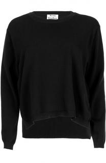 Хлопковый пуловер с разрезами и круглым вырезом Acne Studios