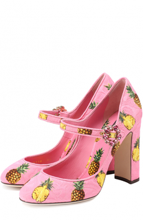 Туфли Vally из текстиля с принтом Dolce & Gabbana