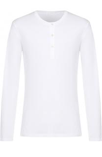 Хлопковая футболка хенли с длинными рукавами La Perla
