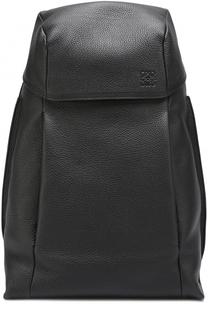 Кожаный рюкзак с внешними карманами на молнии Loewe