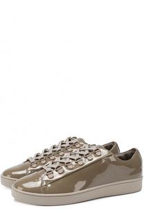 Лаковые кеды Brayde на шнуровке DKNY