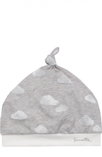 Шапка из хлопка с принтом Sanetta Fiftyseven