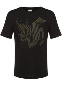 Хлопковая футболка свободного кроя с контрастным принтом Dries Van Noten