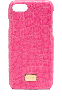 Чехол для iPhone 7 из кожи крокодила Dolce & Gabbana