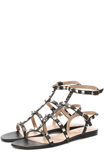 Кожаные сандалии Rockstud с ремешками Valentino
