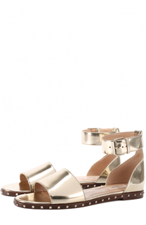 Сандалии Soul Rockstud из металлизированной кожи с ремешком на щиколотке Valentino