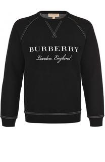 Джемпер из смеси шерсти и кашемира с контрастной отделкой Burberry