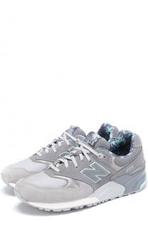 Комбинированные кроссовки 999 на шнуровке New Balance