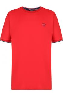 Хлопковая футболка с круглым вырезом Paul&Shark Paul&Shark