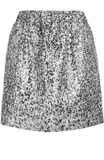 Жаккардовая мини-юбка с контрастным принтом Kenzo