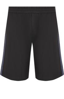 Хлопковые шорты свободного кроя с контрастными лампасами No. 21