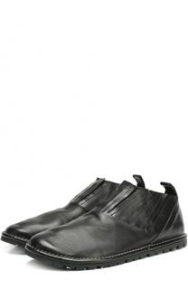 Кожаные ботинки без шнуровки с круглым мысом Marsell